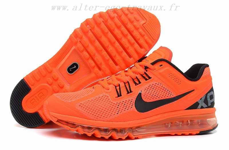 nike orange chaussures