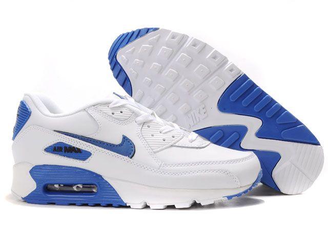 Soldes > air max 90 blanche et bleu > en stock