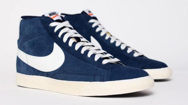 Nike Blazer haute Vintage Chaussures en daim Royal Bleu