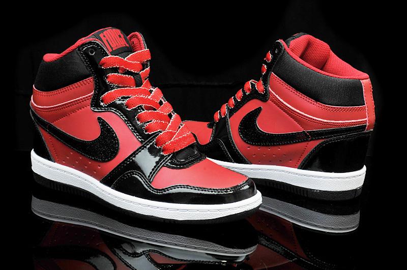 nike dunk high rouge et noir